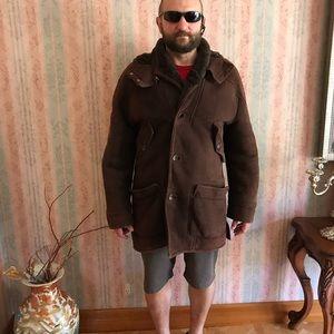 Fendi shearling coat sz 52 chocolate Italy men